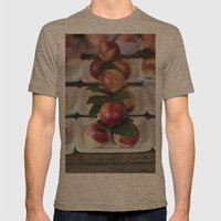 peaches Mens Fitted Tee Tri-Coffee SMALL