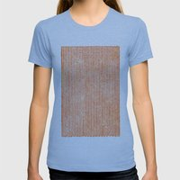 Stockinette Orange Womens Fitted Tee Athletic Blue SMALL
