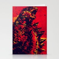 monster Stationery Cards featuring Monster by Balazs Pakozdi