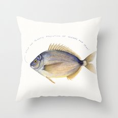 Stop the plastic pollution of oceans and seas! Throw Pillow