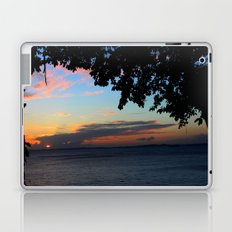 SUNSET BETWEEN TREES. Laptop & iPad Skin