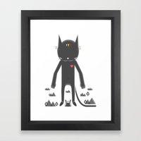 BLACK POND 2 Framed Art Print