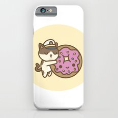 Admiral Whiskers Hugs A Donut iPhone 6 Slim Case