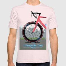 L'Etape du Tour Bike Mens Fitted Tee Light Pink SMALL