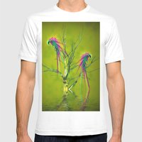 Fantasy Parrots Mens Fitted Tee White SMALL