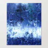 Saltwater Silk Blue Canvas Print