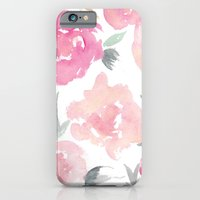 iPhone Cases featuring Muted Floral Watercolor Design  by Jenna Kutcher