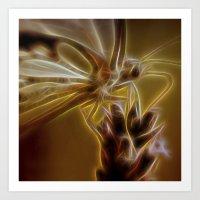 Electrified Butterfly Art Print