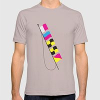 Nautical CMYK Flags - Hell0 Mens Fitted Tee Cinder SMALL