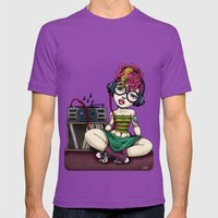Stereo Girl Listening To… Mens Fitted Tee Ultraviolet SMALL
