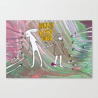 Hug, Kiss, Touch Me Canvas Print