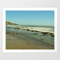 Bowling Ball Beach VI Art Print