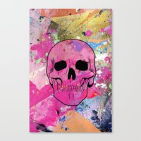 Skull collage Canvas Print