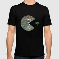 Pacman Mens Fitted Tee Black SMALL