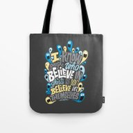People Who Believe In Gh… Tote Bag