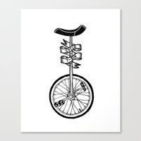 Monocycle Canvas Print