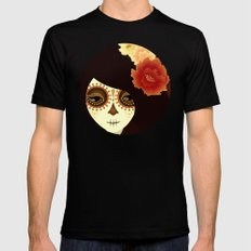 La Muertita Black Mens Fitted Tee SMALL