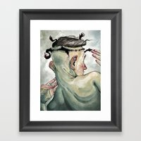All In My Head, But Out … Framed Art Print