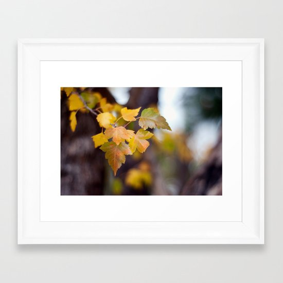 Autumn Yellow Framed Art Print