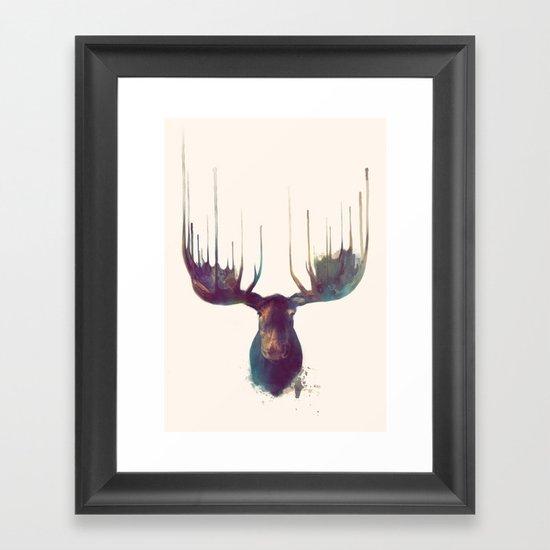 Moose Framed Art Print By Amy Hamilton Society6