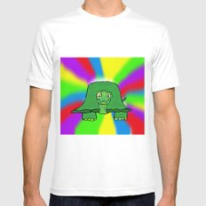 Turtle White Mens Fitted Tee SMALL