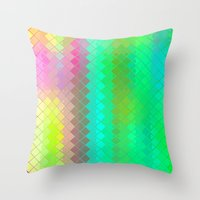 Re-Created  Flying Carpet III Throw Pillow