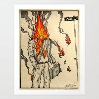 Spontaneous Combustion Art Print