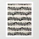 Ocean Sushi Stripe Art Print