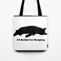 Cat nap w/border Tote Bag