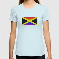 jamaica country gay flag homosexual Womens Fitted Tee Light Blue SMALL