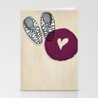 Zebra shoes Stationery Cards