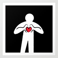 From Haring With Love Art Print