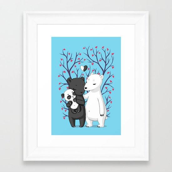 Bear Family Framed Art Print