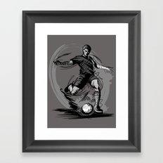 Playing Football Framed Art Print