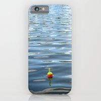 iPhone & iPod Case featuring Fishing Bobber in Water Color Photograph by ginaphoto