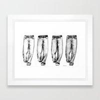 4 Jeans Framed Art Print