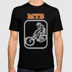 Downhill Mountain Bike SMALL Mens Fitted Tee Black