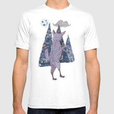 COYOTE White SMALL Mens Fitted Tee