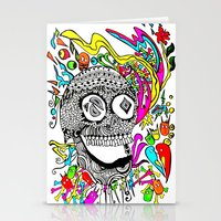 The Candy Skull Stationery Cards