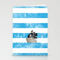 Pirates Love Stripes Stationery Cards