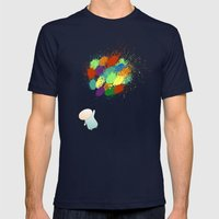 Burst! Mens Fitted Tee Navy SMALL