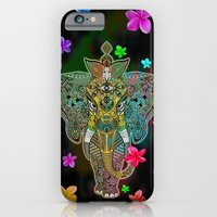 Elephant Zentangle Doodle Art  iPhone 6 Slim Case