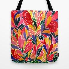 Colorful Petals Pattern Tote Bag