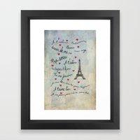 Paris Amour Valentines Design  Framed Art Print