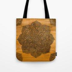 Wood Mandala Tote Bag