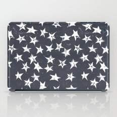Linocut Stars - Navy & White iPad Case