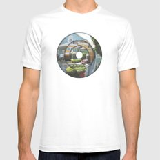 abode White SMALL Mens Fitted Tee