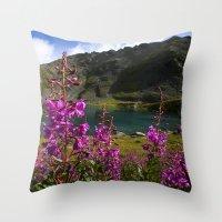 Fireweed - Hatcher Pass Alaska Throw Pillow