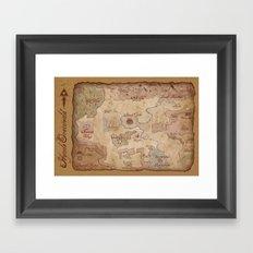 Map Of Hyrule- Legend Of… Framed Art Print