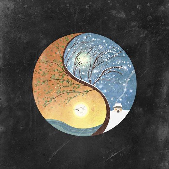 OPPOSITES LOVE - Yin-Yang Tree: Summer-Winter 2 Art Print